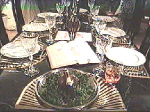 Burns Supper table
